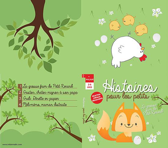 Infographie de Maquette Digipak Histoires pour les petits