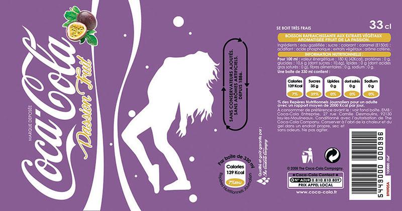 Infographie de Etiquette Coca Passion