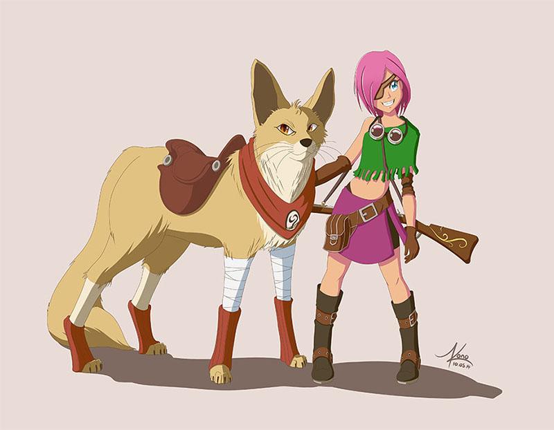 Character design de Kuru & Fen