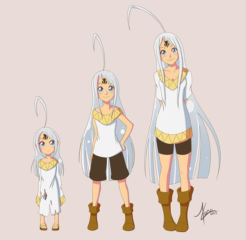 Character design de Shaka Age Chart