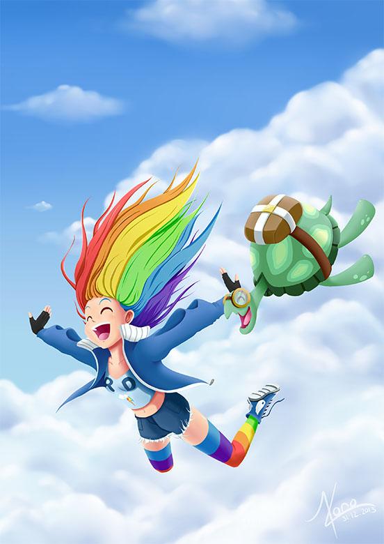 Illustration de Skydiving Dash