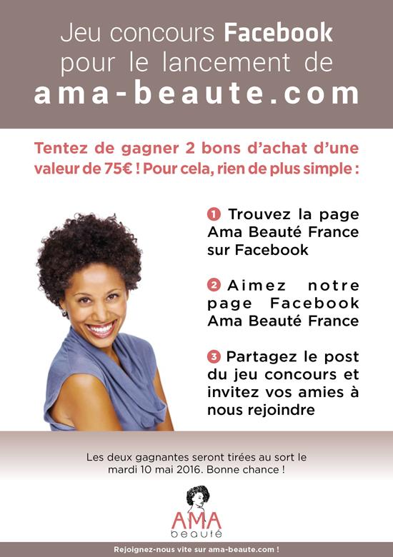 Verso flyer AMA Beauté
