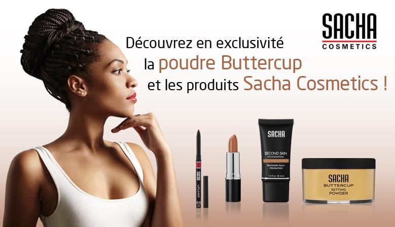 Bannière de publicité Sacha Cosmetics