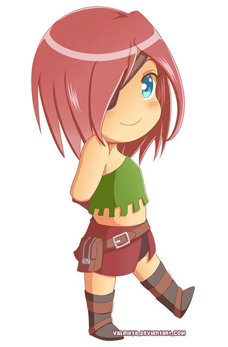 Character design de Chibi Kuru