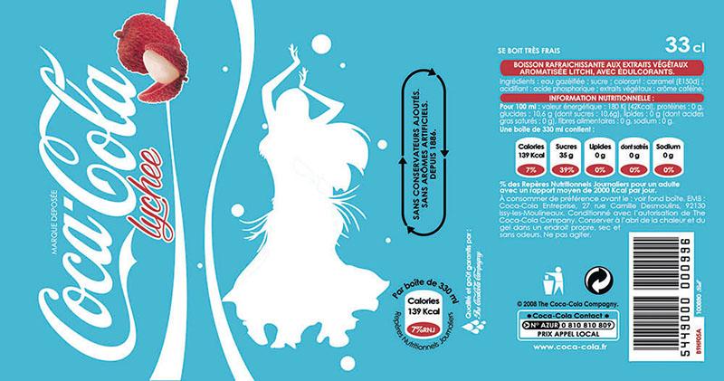 Infographie de Etiquette Coca Lychee