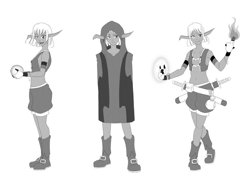 Character design de Val posings