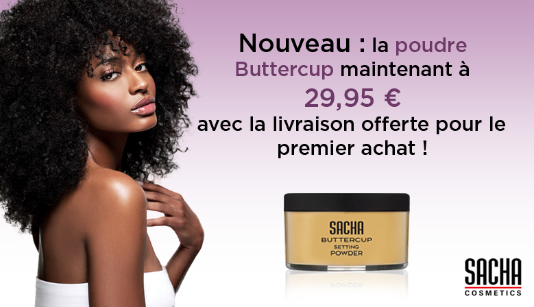 Bannière de publicité Buttercup Setting Powder