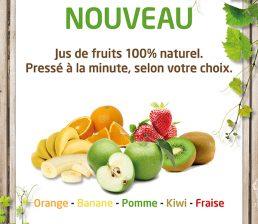 Panneaux Jus de fruits